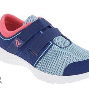 Vionic Navy/Coral Brisk Ema Walking Sneaker Sz 10